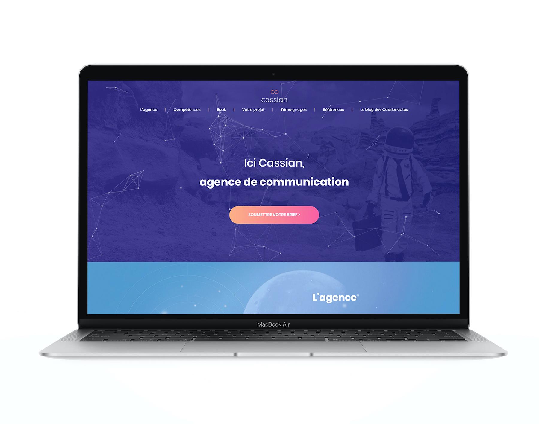 book projet site web Agence Cassian